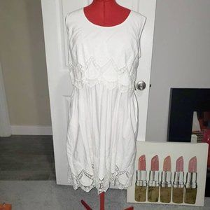 NWT New York & Company White Sundress with pockets